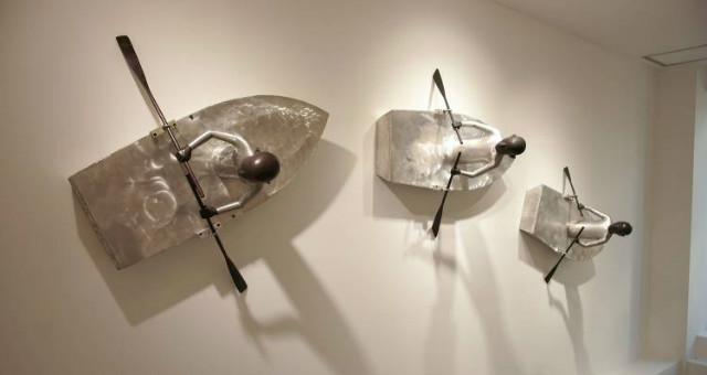 강상훈 作_뱃놀이_bronze, Aluminum_W86.0×H52.0×D36(cm)_2012.jpg