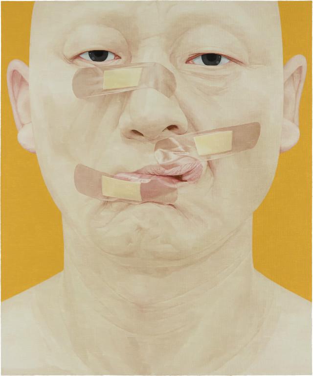 한 사람으로서의 자화상-밴드2 120cm x 100cm Oil on canvas 2017.jpg