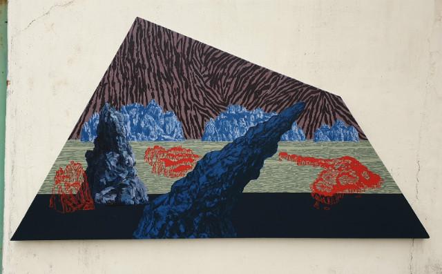 양해웅, 남명고군도1(南冥孤群島3), Acrylic on canvas, 233.5x122cm, 2018.jpg