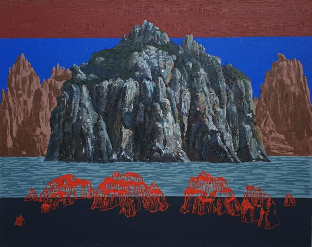 양해웅, 남명고군도3(南冥孤群島3), Acrylic on canvas, 90.7x72.7cm, 2018.jpg