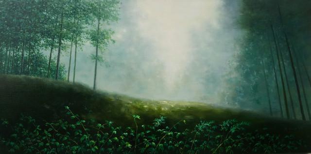 문인환   숲의아침  120 x 60cm  Oil on Canvas 2017   1,000만원.jpg