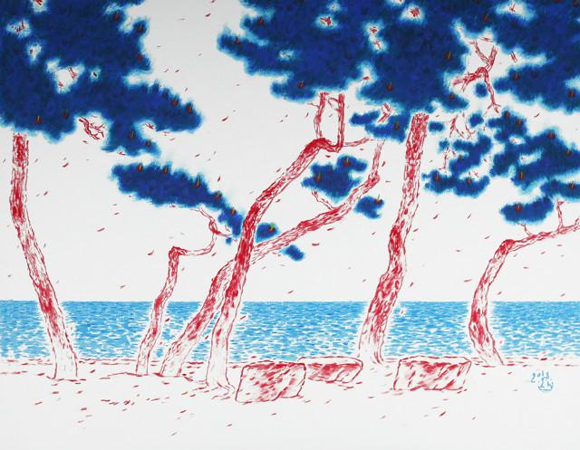 조병완, 아리랑18-흥겨운 날2, 91cm x 116.7cm, 장지에 아크릴, 2018.jpg