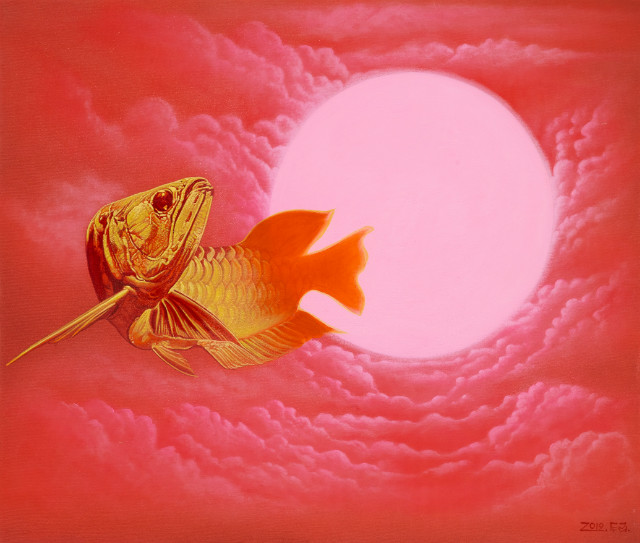 천국의 사신, 60.6 × 72.7cm,  Acrylic on canvas, 2019.jpg