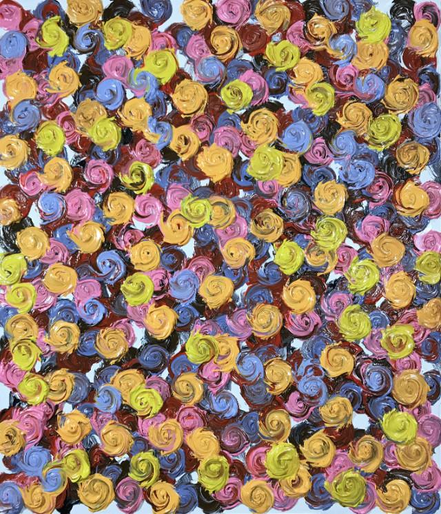 Rose SessionsⅡ-058(fleurs dans la vie) -10F(45.5x53.0cm), oil on canvas, 2018.JPG