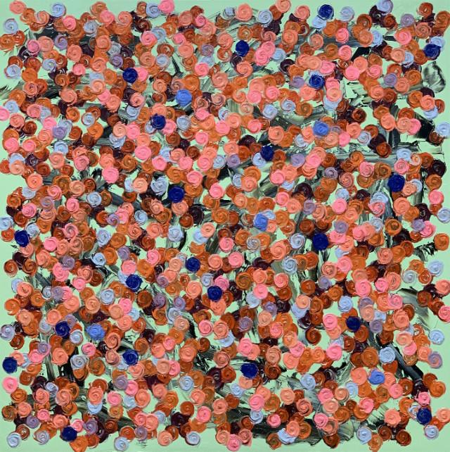 Rose SessionsⅡ-081(fleurs dans la vie) -100S(130.3x130.3cm), oil on canvas, 2019.JPG