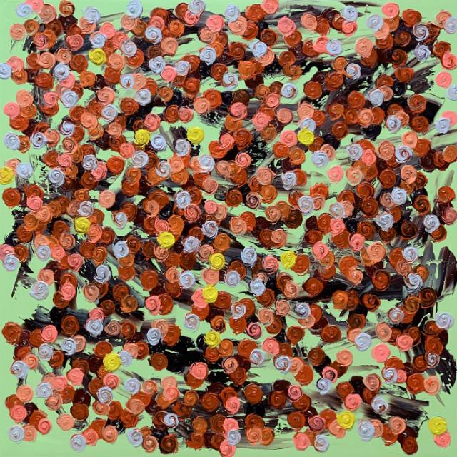 Rose SessionsⅡ-082(fleurs dans la vie) -100S(130.3x130.3cm), oil on canvas, 2019.JPG